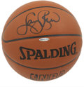 Basketball Collectibles:Balls, Larry Bird Single Signed Basketball. Larry Legend can look at thesuccess of today's Celtics and think back to all of the g...