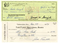 Autographs:Checks, Joe Garagiola and Joe Sewell Signed Checks Lot of 2. Each of themen featured in this lot ascended to the height of being a...(Total: 2 items)