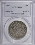 Early Half Dollars, 1805 50C XF40 PCGS....
