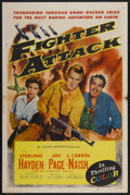 "Movie Posters:War, Fighter Attack (Allied Artists, 1953). One Sheet (27"" X 41"").War...."