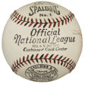Baseball Collectibles:Others, 1926-33 Official National League (Heydler) Baseball with OriginalBox. In the era that the National League utilized baseba...