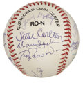 Autographs:Baseballs, 1998 Hall of Fame Induction Multi-Signed Baseball. The exceptionalONL (Coleman) orb that we present here carries the sign...