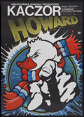 "Movie Posters:Comedy, Howard the Duck (Universal, 1987). Polish One Sheet (26"" X 36.5"").Comedy...."