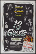 "Movie Posters:Horror, 13 Ghosts (Columbia, 1960). One Sheet (27"" X 41""). Horror...."