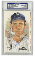 Autographs:Post Cards, Joe DiMaggio Signed Perez-Steele Postcard, PSA Authentic. With anexample of the elegant Perez-Steele postcards acting as a...(Total: 1 cards)