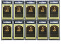 Autographs:Post Cards, Stan Musial Signed Gold Hall of Fame Plaques, PSA Authentic Lot of10. Stan the Man was the Redbirds' main man for a number... (Total:10 cards)