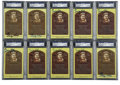 Autographs:Post Cards, George Kell Signed Gold Hall of Fame Plaques, PSA Authentic Lot of10. A superstar slugger in the WWII era of Major League ... (Total:10 cards)
