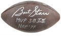 Football Collectibles:Balls, Bart Starr Single Signed Football. The Green Bay Packers' dominant #15 has here left the vintage Wilson football that we pr...
