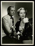 """Movie Posters:Comedy, Robert Montgomery and Madge Evans in Piccadilly Jim Publicity Still by Ted Allan (MGM, 1936). Still (10"""" X 13""""). Comedy...."""