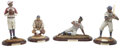 "Baseball Collectibles:Others, Upper Deck ""Historical Beginnings"" Negro League Figurines Lot of 4.Created by Upper Deck to commemorate some of the game's... (Total:4 pieces)"