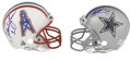 Football Collectibles:Helmets, Troy Aikman and Warren Moon Signed Mini Helmets. . ...