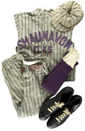 Baseball Collectibles:Uniforms, Circa 1910s-20s Vintage Shauvanon Elks Full Uniform. While it cannot be said with definitive clarity what league the Shauva... (Total: 8 items)