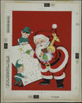 Original Comic Art:Covers, Santa's Dot to Dot Cover Original Art (Whitman, undated)....