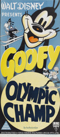 """Movie Posters:Animated, The Olympic Champ (RKO, 1942). Australian Daybill (13.25"""" X30"""")...."""