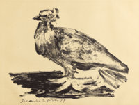 PABLO PICASSO (Spanish, 1881-1973) Le Gros Pigeon (The Fat Pigeon), 1947 Lithograph on Arches paper<