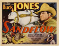 "Movie Posters:Western, Sandflow (Universal, 1937). Title Lobby Card (11"" X 14"")...."