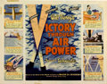 """Movie Posters:War, Victory Through Air Power (United Artists, 1943). Half Sheet (22"""" X28"""")...."""
