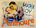 """Movie Posters:Mystery, Penthouse (MGM, 1933). Half Sheet (22"""" X 28"""")...."""