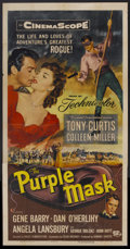 "Movie Posters:Adventure, The Purple Mask (Universal International, 1955). Three Sheet (41"" X81""). Adventure...."