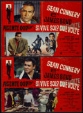 "Movie Posters:James Bond, You Only Live Twice (United Artists, 1967). Italian Photobustas (2) (18"" X 26.5""). James Bond.... (Total: 2 Items)"