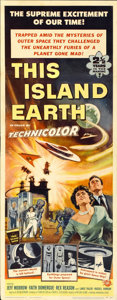 "Movie Posters:Science Fiction, This Island Earth (Universal International, 1955). Insert (14"" X36"")...."