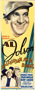 "Movie Posters:Musical, Hallelujah, I'm a Bum (United Artists, 1933). Insert (14"" X36"")...."