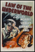 "Movie Posters:Crime, Law of the Underworld (RKO, 1938). One Sheet (27"" X 41""). Crime...."