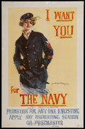 "Movie Posters:War, World War I Navy Recruiting Poster (U. S. Navy, 1917). One Sheet(27"" X 41.5""). War...."