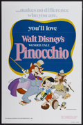 "Movie Posters:Animated, Pinocchio (Buena Vista, R-1978). One Sheet (27"" X 41"").Animated...."