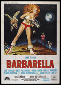 "Movie Posters:Science Fiction, Barbarella (Paramount, 1968). Italian 4 - Folio (55"" X 78"").Science Fiction...."
