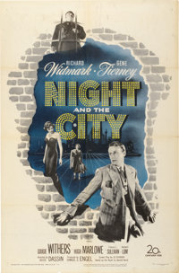 """Night and the City (20th Century Fox, 1950). One Sheet (27"""" X 41"""")"""