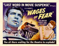 "Movie Posters:Thriller, Wages of Fear (DCA, 1955). Half Sheet (22"" X 28"")...."