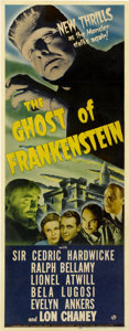 "Movie Posters:Horror, Ghost of Frankenstein (Universal, 1942). Insert (14"" X 36"")...."