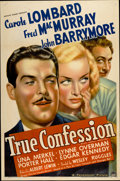 "Movie Posters:Comedy, True Confession (Paramount, 1937). One Sheet (27"" X 41"")...."