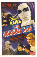 "Movie Posters:Horror, The Invisible Man (Realart, R-1947). One Sheet (27"" X 41"")...."