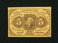 Fractional Currency:First Issue, Fr. 1230 5c First Issue Extremely Fine-About New....
