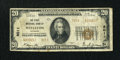 National Bank Notes:Missouri, Wellston, MO - $20 1929 Ty. 2 The First NB Ch. # 8011. ...