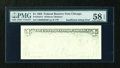 Error Notes:Blank Reverse (<100%), Fr. 1919-G $1 1993 Federal Reserve Note. PMG Choice About Unc 58EPQ.. ...