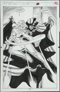 Original Comic Art:Splash Pages, Chris Ivy and Don Hudson - Cloak and Dagger #19, Splash page 42Original Art (Marvel, 1991)....