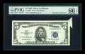 Error Notes:Foldovers, Fr. 1655 $5 1953 Silver Certificate. PMG Gem Uncirculated 66 EPQ.....