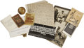 Baseball Collectibles:Others, Frank Home Run Baker Miscellany, Large Group Lot. Wide array ofmaterial derived from the descendants of Hall of Famer Fran...(Total: 13 items)