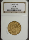 Liberty Eagles: , 1846-O $10 XF40 NGC. NGC Census: (16/74). PCGS Population (16/13).Mintage: 81,780. Numismedia Wsl. Price for NGC/PCGS coin...