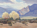 Paintings, EDITH ANNE HAMLIN (American, 1902-1992). Sun and Shadow, 1941. Oil on board. 12 x 16 inches (30.5 x 40.6 cm). Signed and...