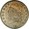 Proof Classic Head Half Cents, 1831 1/2 C Reverse of 1840 PR66 Brown PCGS....