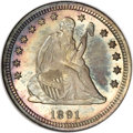Seated Quarters, 1891 25C MS67 NGC....