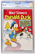 Golden Age (1938-1955):Funny Animal, Four Color #203 Donald Duck (Dell, 1948) CGC VF 8.0 Off-whitepages....