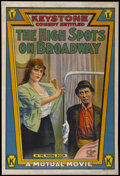 "Movie Posters:Comedy, The High Spots on Broadway (Mutual, 1914). One Sheet (28"" X 41.5"").Comedy...."