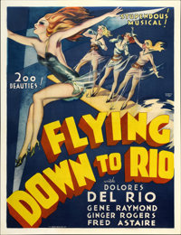 "Flying Down to Rio (RKO, 1933). Two Sheet (41"" X 54"")"