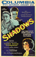 "Movie Posters:Drama, Shadows (Preferred Pictures, 1922). Window Card (14"" X 22"")...."