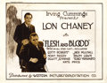 "Movie Posters:Drama, Flesh and Blood (Western Pictures Exploitation Co., 1922). TitleLobby Card and Lobby Card (11"" X 14"").... (Total: 2 Items)"